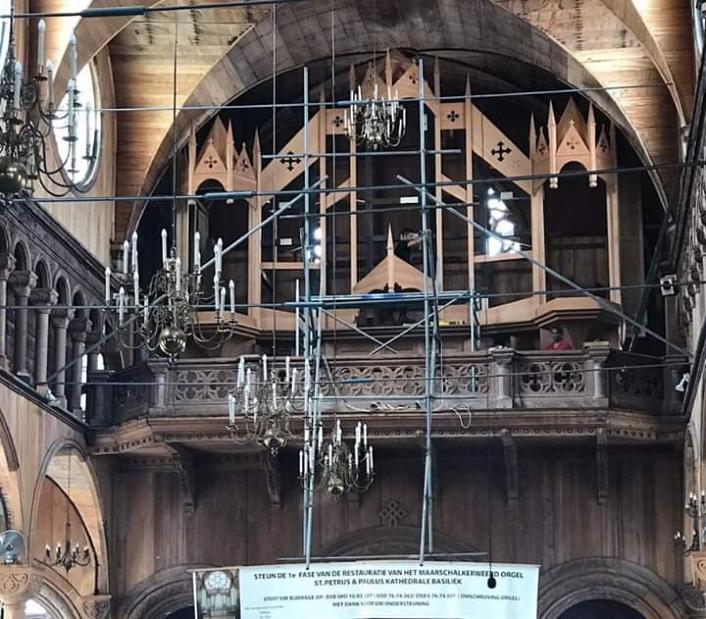 Orgelfront zonder pijpen